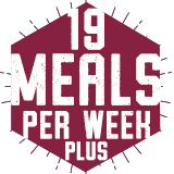 19 Meals Per Week PLUS FLEX $2,806.00