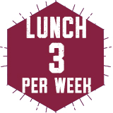 Lunch 3 Per Week $470.00